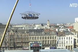 «Ужин на высоте» 15 этажей: из карантина вышел любимый ресторан Брюсселя