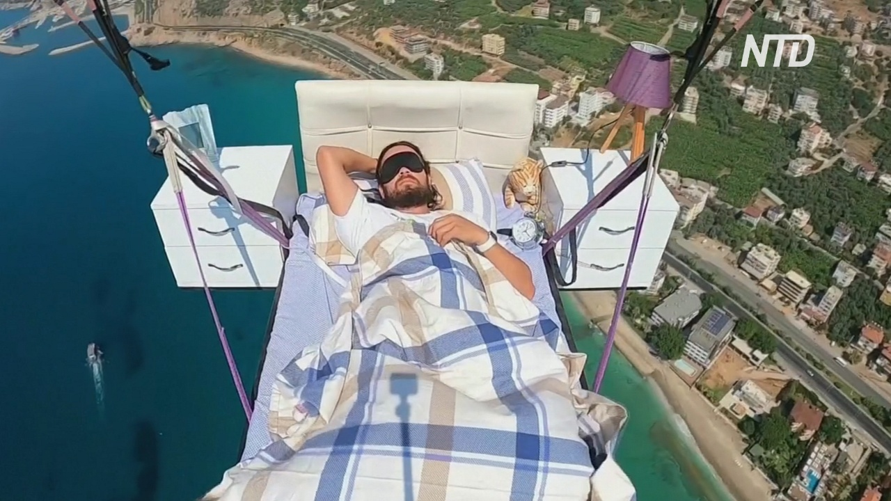 Летающая спальня: турецкий парапланерист поспал в воздухе
