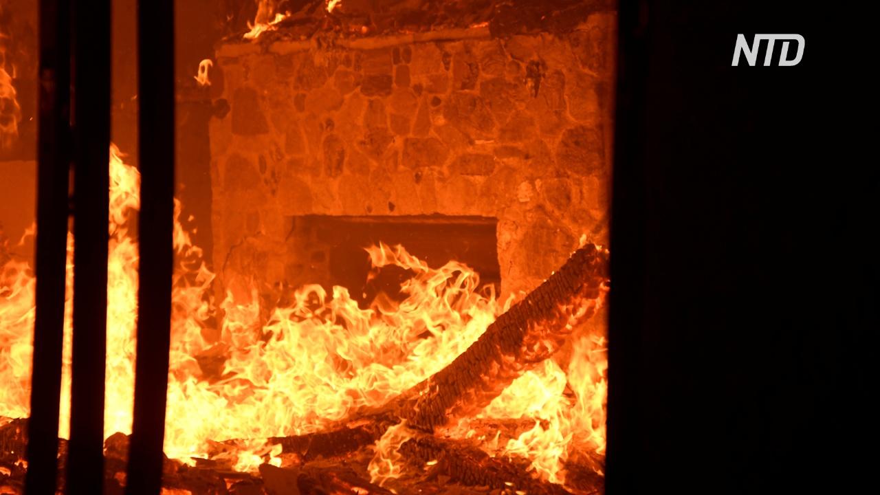 В Аргентине лесные пожары угрожают жилым домам