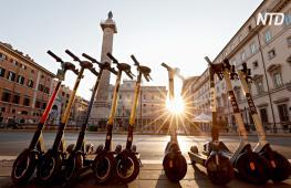 Электросамокаты наводняют Рим, но реакция на них – неоднозначная