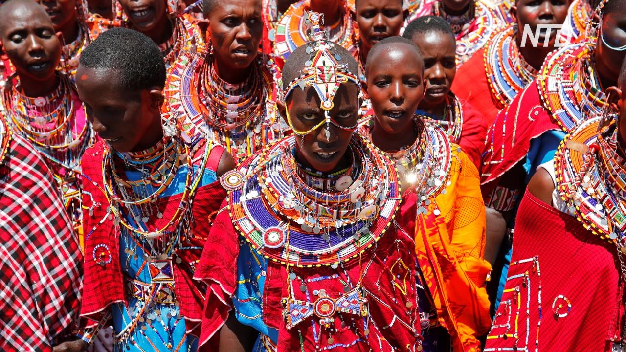 Масаи проводят редкую церемонию посвящения в старейшины