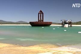 В Австралии гигантский механизм генерирует искусственные волны для сёрфинга