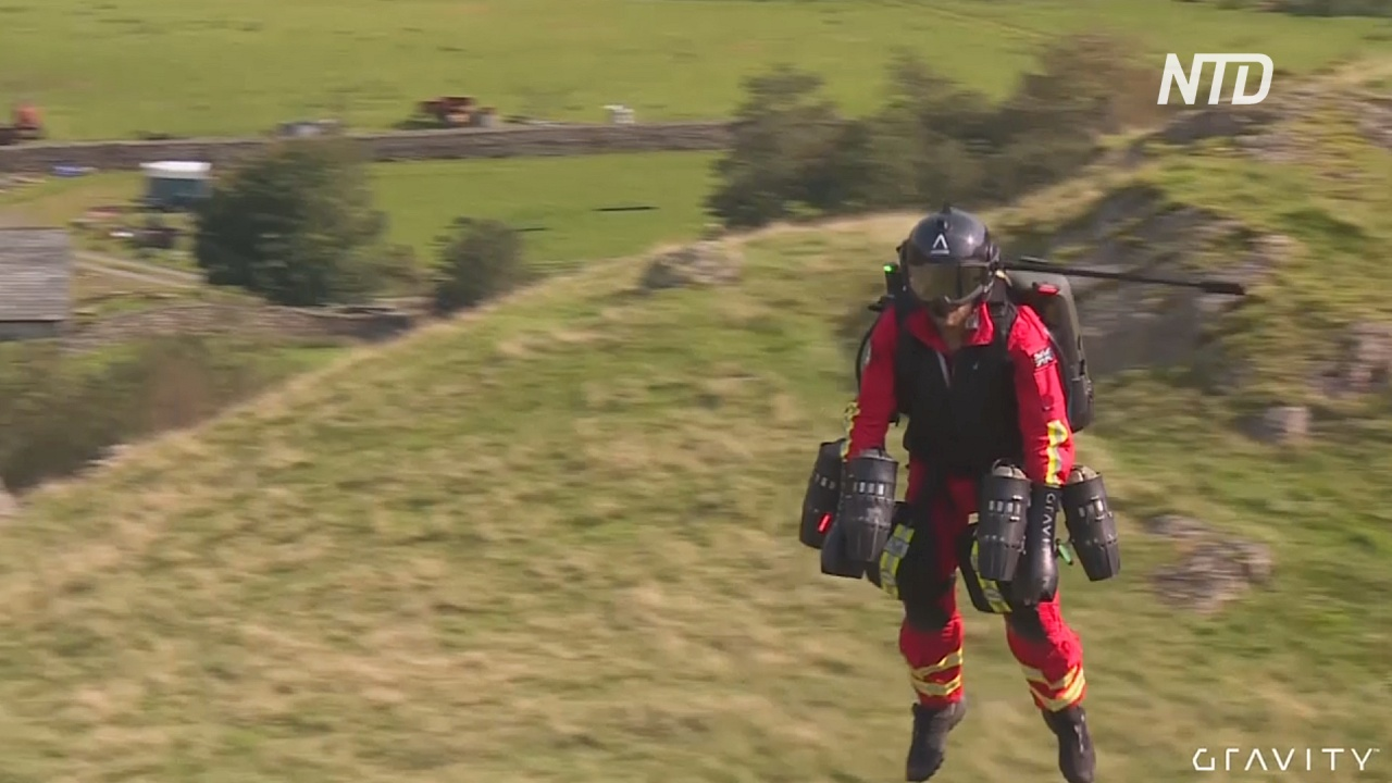 Реактивная помощь: медики испытывают костюм «Железного человека» в горах Англии
