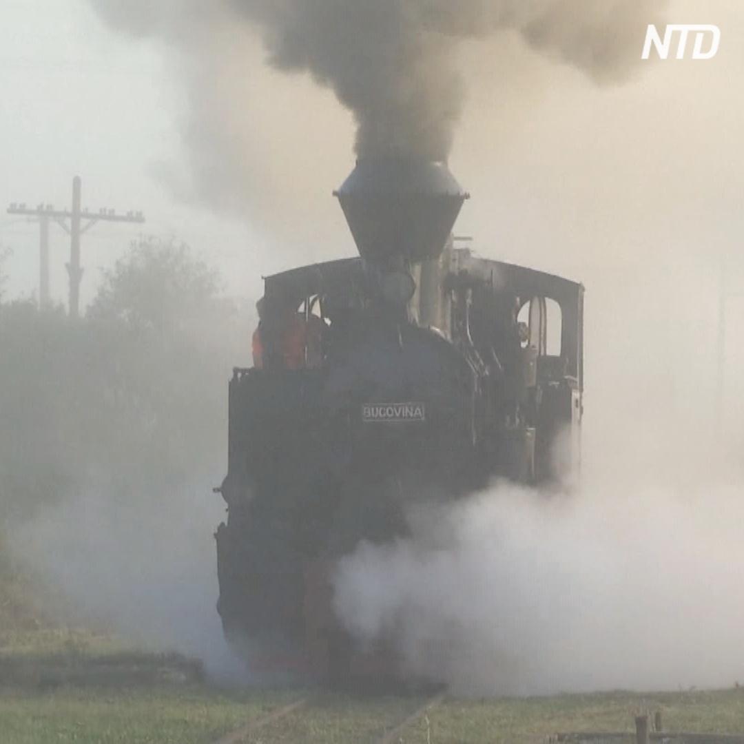По старинной узкоколейке в Трансильвании снова колесит паровоз