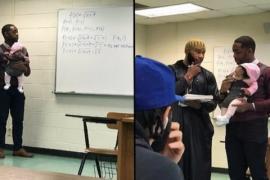 Профессор математики держал на руках ребёнка во время лекции
