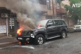 Армения опубликовала видео с последствиями обстрела Степанакерта войсками Азербайджана