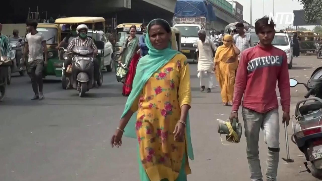 В Индии – наименьшее количество новых случаев COVID-19 за последние три месяца