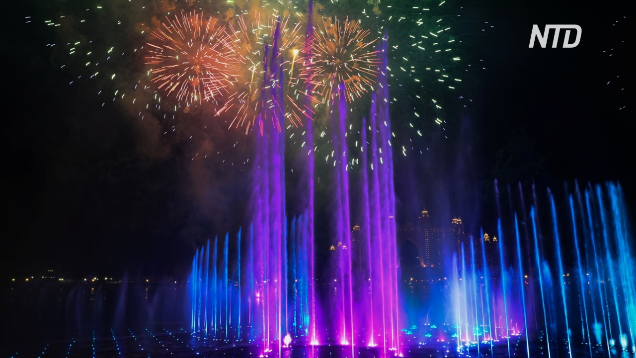 В Дубае запустили самый большой в мире фонтан