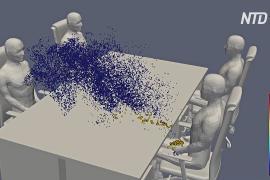 Японские учёные показали наглядно, как распространяются вирусные частицы