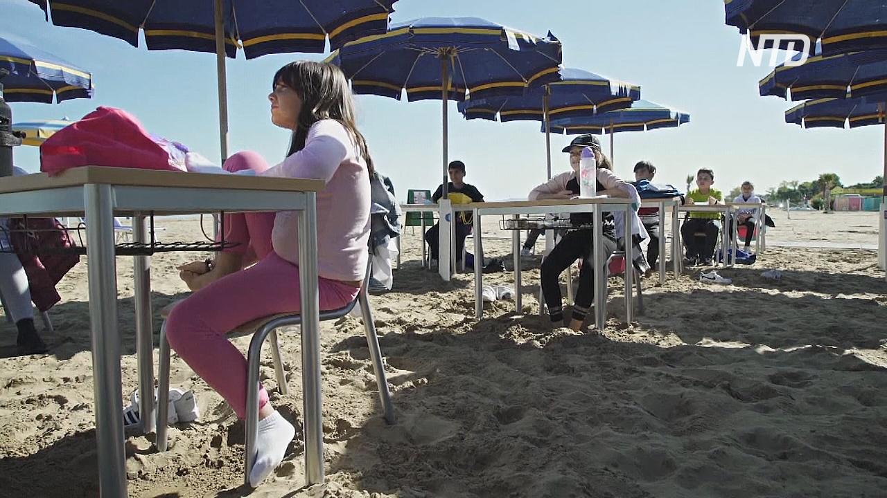 Школа как курорт: итальянских детей учат на морском пляже