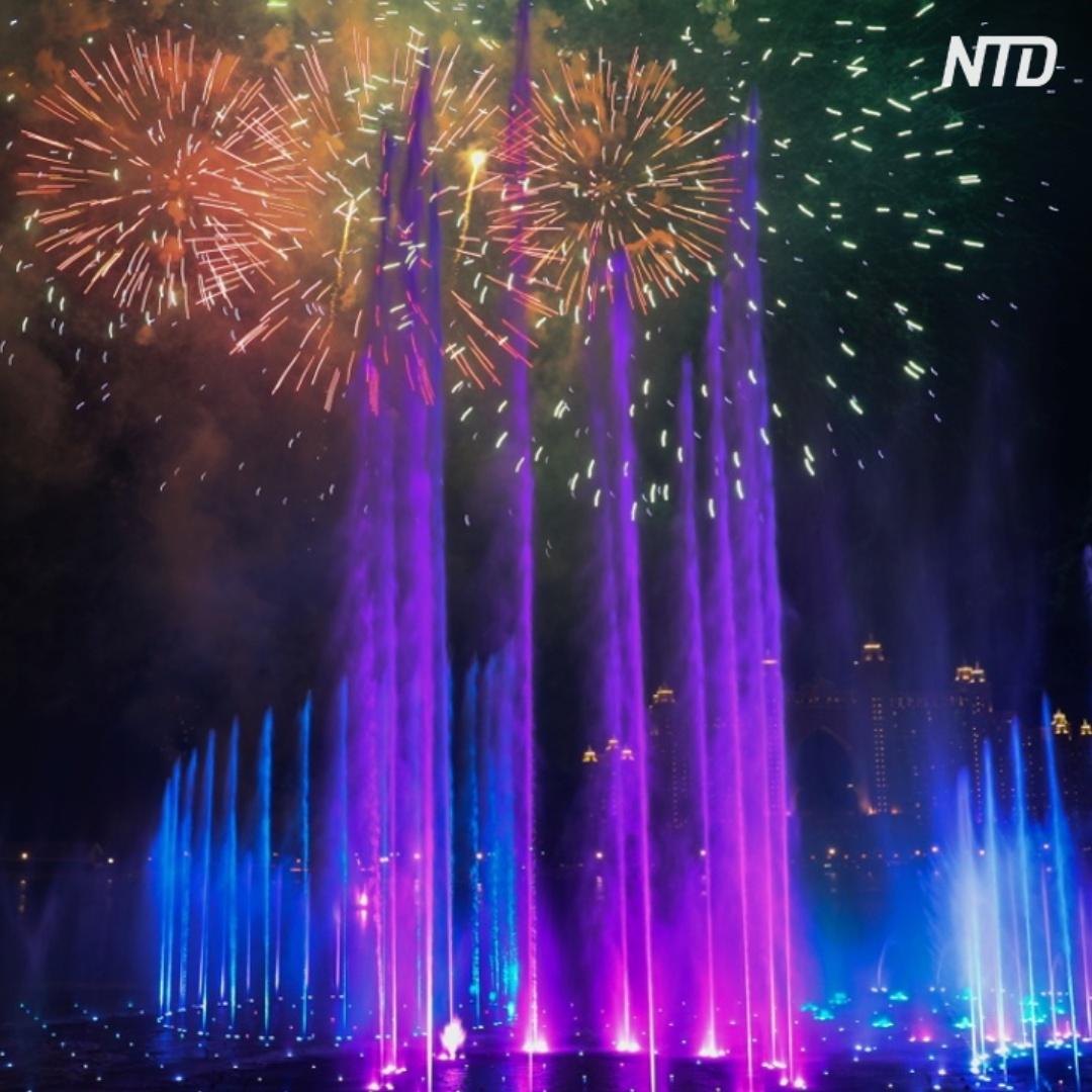 Самый большой в мире фонтан торжественно открыли в Дубае