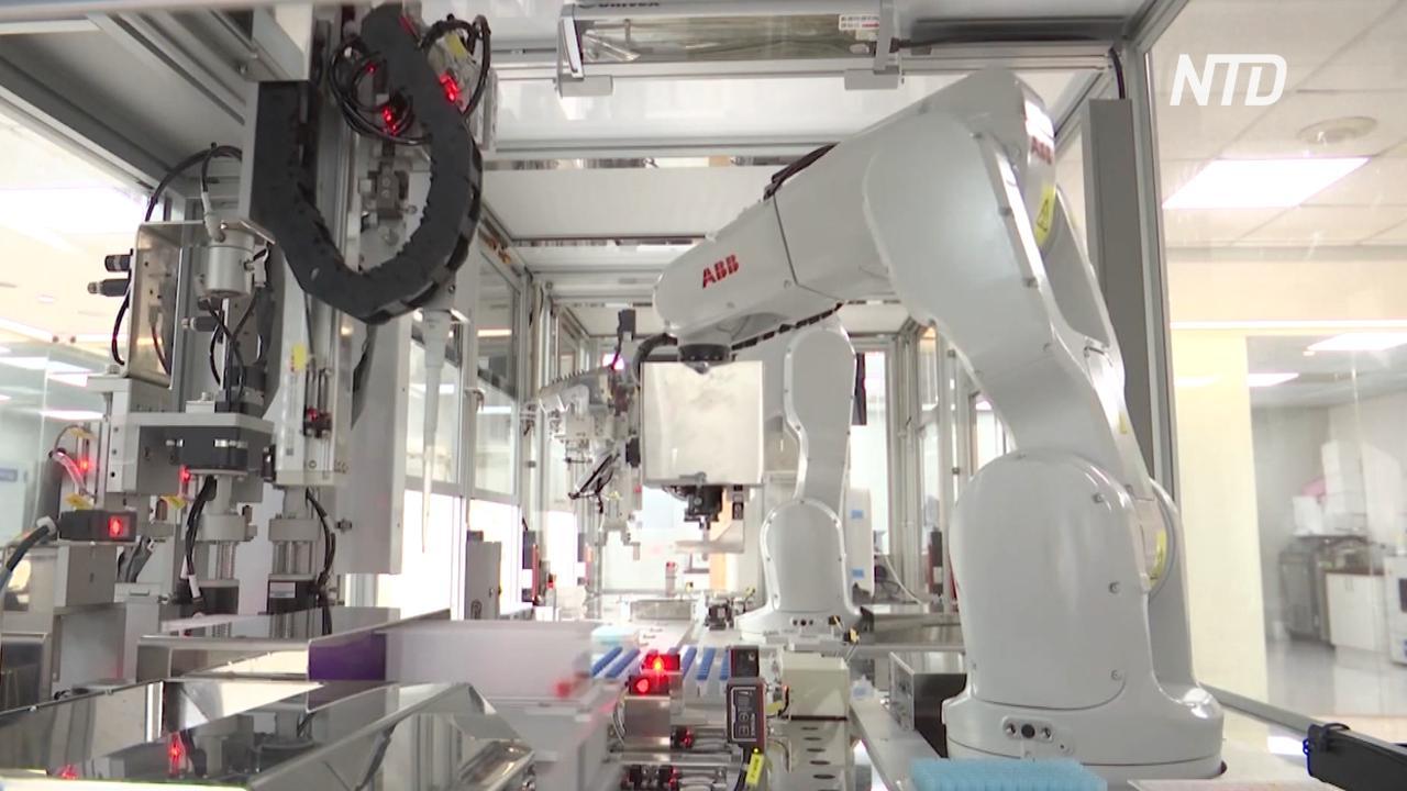 На Тайване новый робот-лаборант в день обрабатывает 2000 тестов на COVID-19