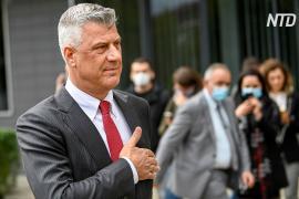 Президент Косова подал в отставку, после этого его взяли под стражу в Гааге