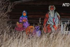 Заброшенную деревню в Ивановской области оживляют стрит-артом