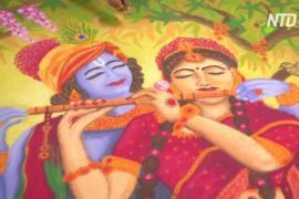 Индия: выставка традиционных рисунков ранголи в преддверии праздника Дивали