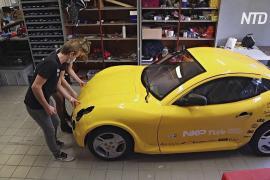 Голландские студенты построили электрокар из вторсырья