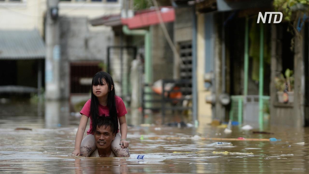 В Маниле эвакуируют жителей после тайфуна «Вамко»