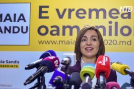 На выборах в Молдове побеждает оппозиционный проевропейский кандидат Майя Санду