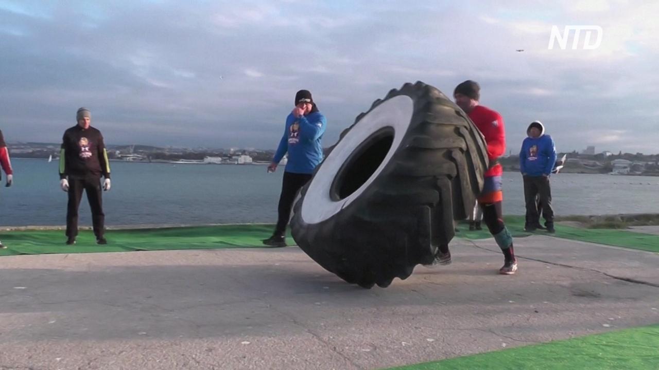 «Люди сильнее машин»: в Крыму посоревновались сильнейшие атлеты