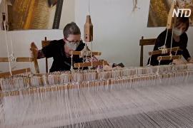 На 200-летних ткацких станках создают маски класса люкс