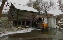 В Курской области работает отреставрированная 300-летняя водяная мельница