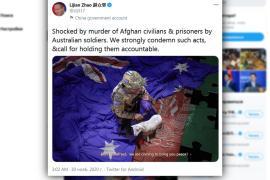 Австралия требует от Китая извинений за фейковое фото в Twitter