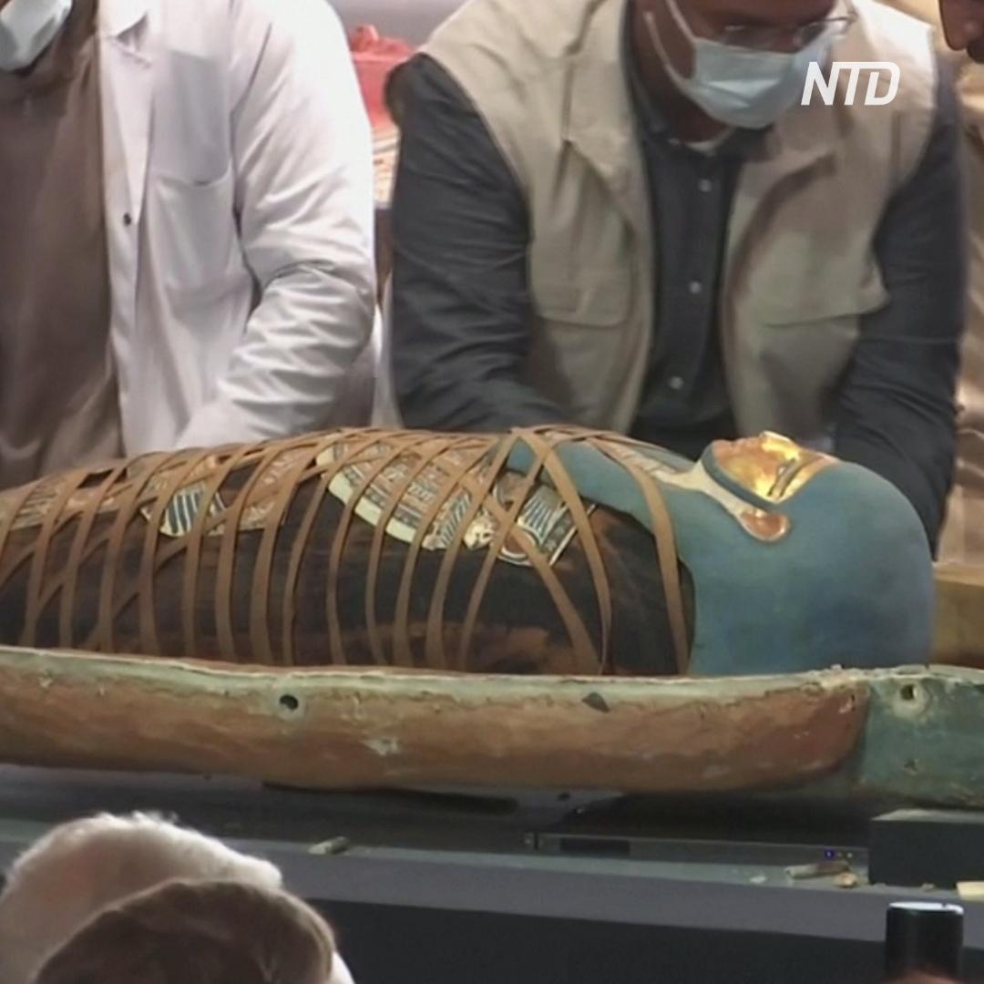 В Египте показали саркофаги, которые 2500 лет не трогала рука человека