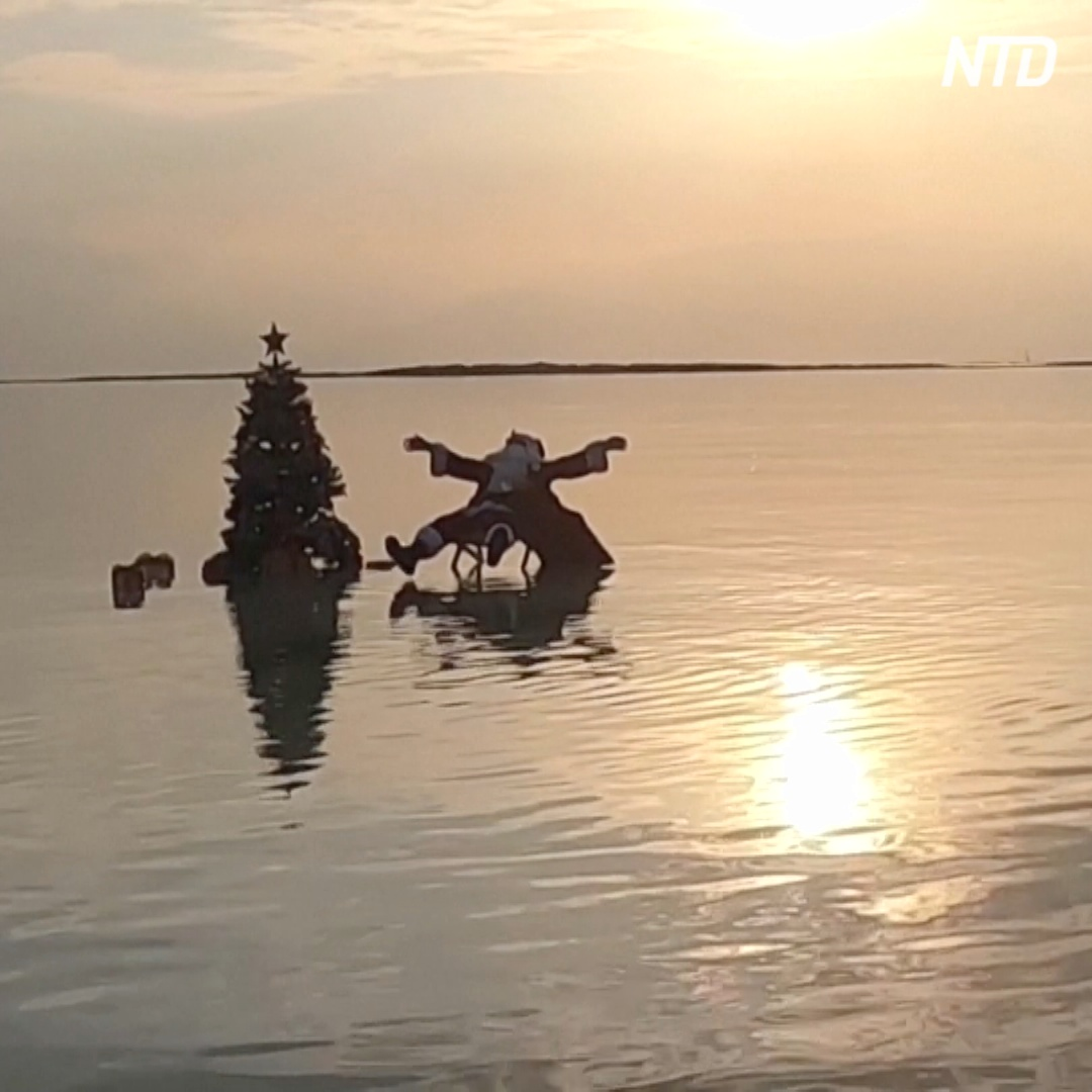 Как Санта-Клаус поставил ёлку посреди Мёртвого моря