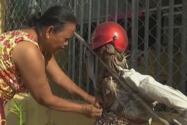 Как в Камбодже COVID отпугивают соломенными чучелами