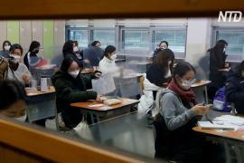 Изнурительный общенациональный экзамен в Южной Корее осложнила пандемия