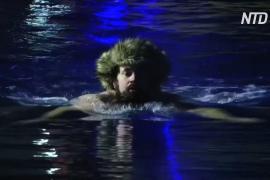 Эстонцы установили мировой рекорд по эстафетному заплыву в холодной воде