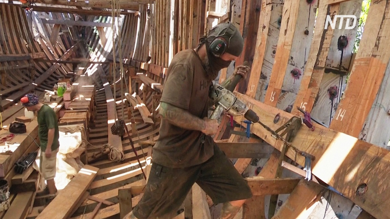 В Коста-Рике строят экологичный парусник для перевозки грузов