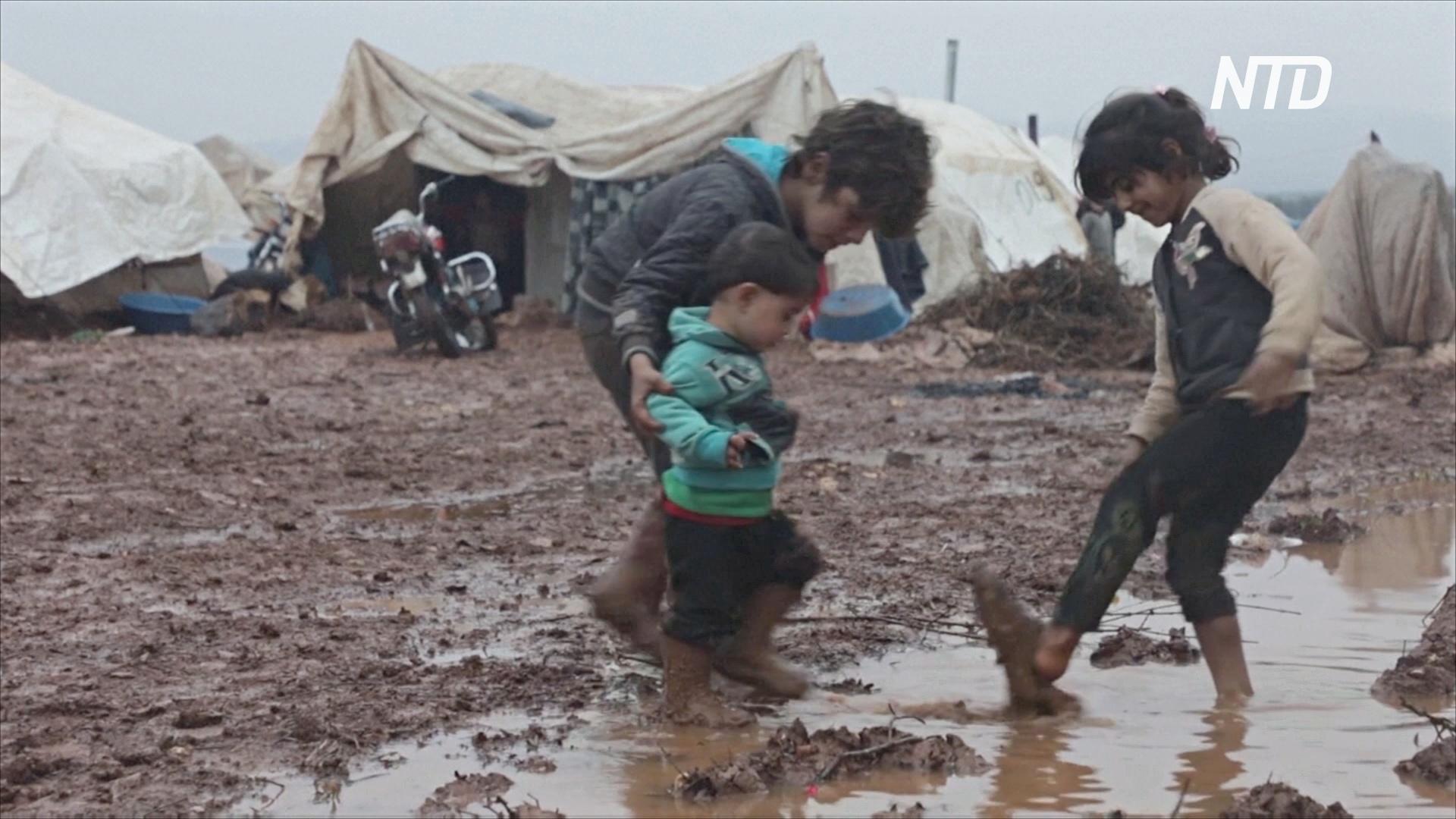 Зимние холода и пандемия: сирийские беженцы столкнулись с двойным бедствием
