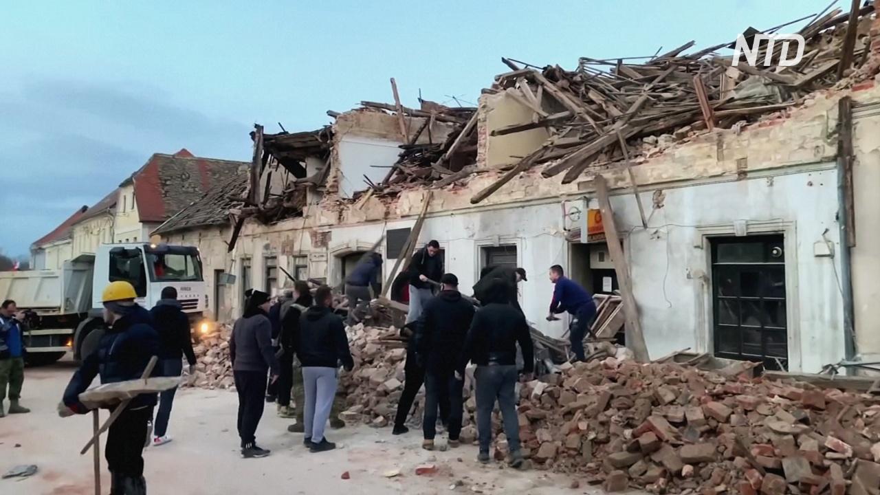 В Хорватии – второе за два дня землетрясение, есть жертвы