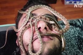 Не для слабонервных: в египетском спа-салоне делают змеиный массаж