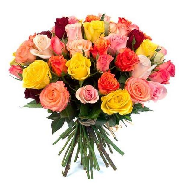Букет из 31 розы 40см микс