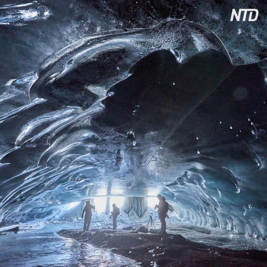 «Ледяной храм» в Альпах построила сама природа