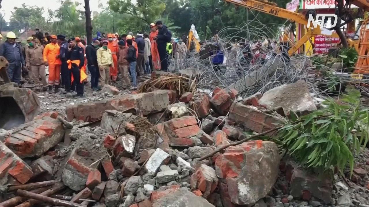 В Индии рухнула крыша крематория: более 20 погибших