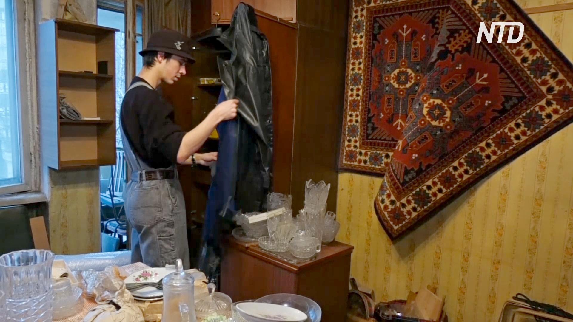 В Санкт-Петербурге экологично разбирают старые вещи в квартирах