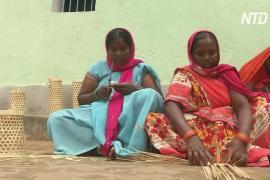 Индианка помогла односельчанкам зарабатывать с помощью плетения из бамбука