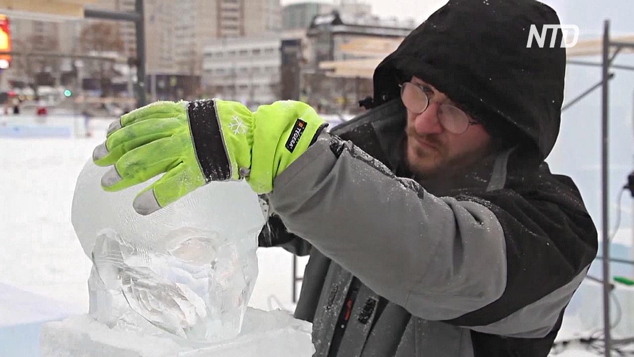 Фестиваль ледовых скульптур в 7-й раз проходит в центре Перми