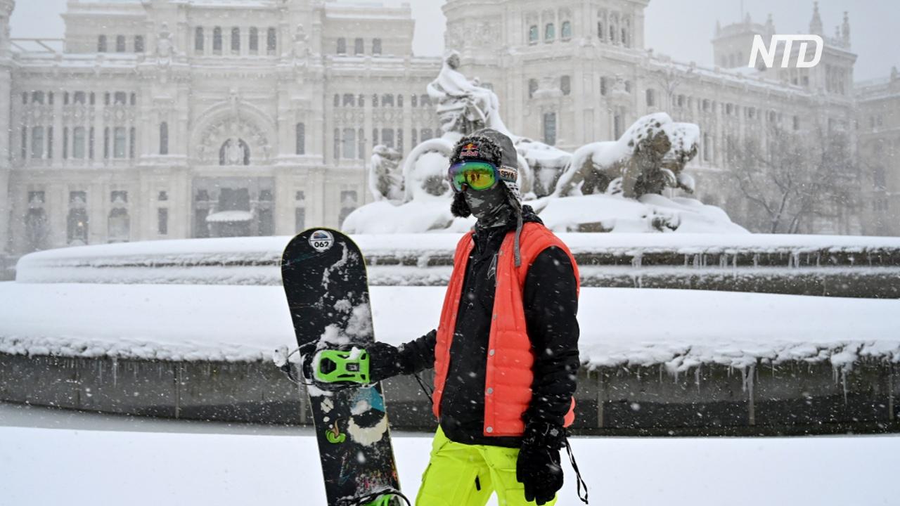 Сильнейший за 50 лет снегопад в Испании: четверо погибших