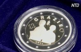 В Италии выпустили монету номиналом 2 евро, посвящённую медикам