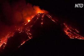 Активизировался Этна – самый крупный действующий вулкан Европы