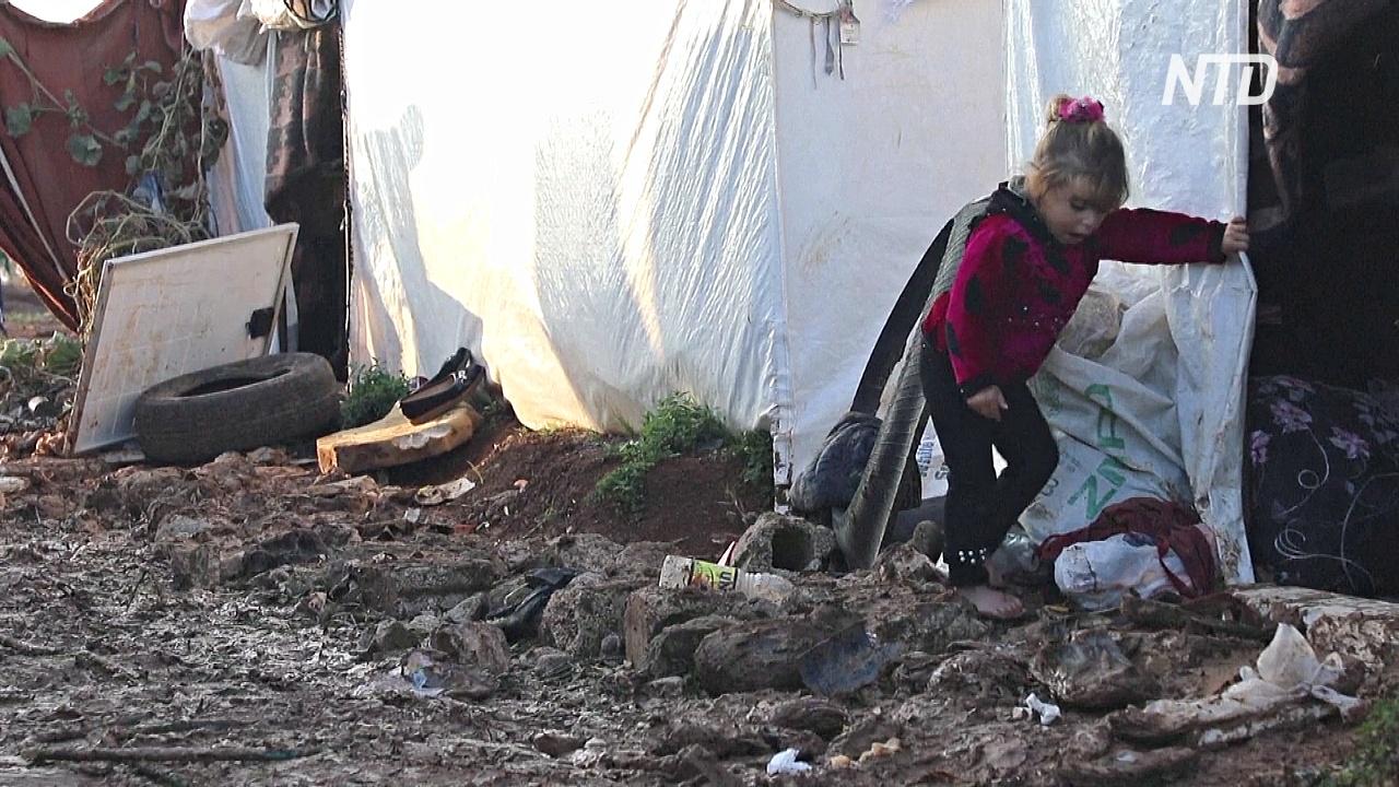 Сирийские беженцы страдают от холода и коронавируса