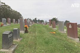 Крупнейшее кладбище Северной Америки не справляется с наплывом тел умерших от COVID
