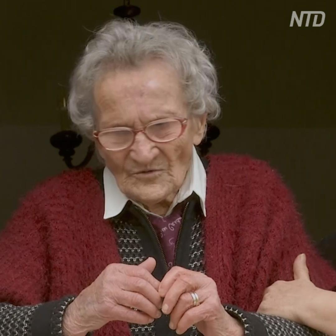 Крепкий орешек: 109-летняя итальянка переживает третью пандемию