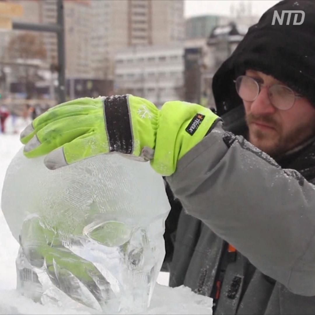 7-й фестиваль ледовых скульптур проходит в Перми