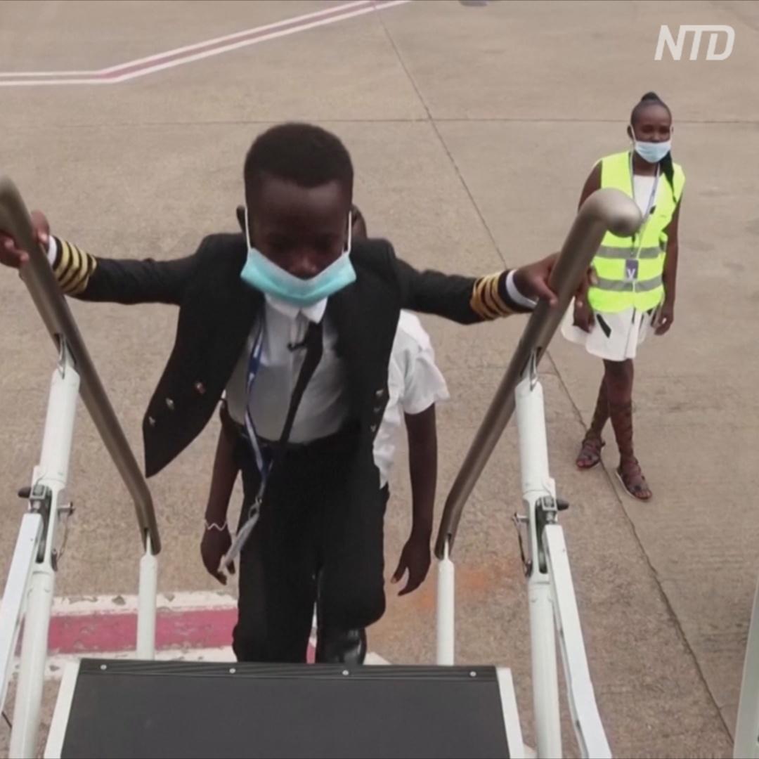 7-летний пилот: юный угандиец прославился на всю страну