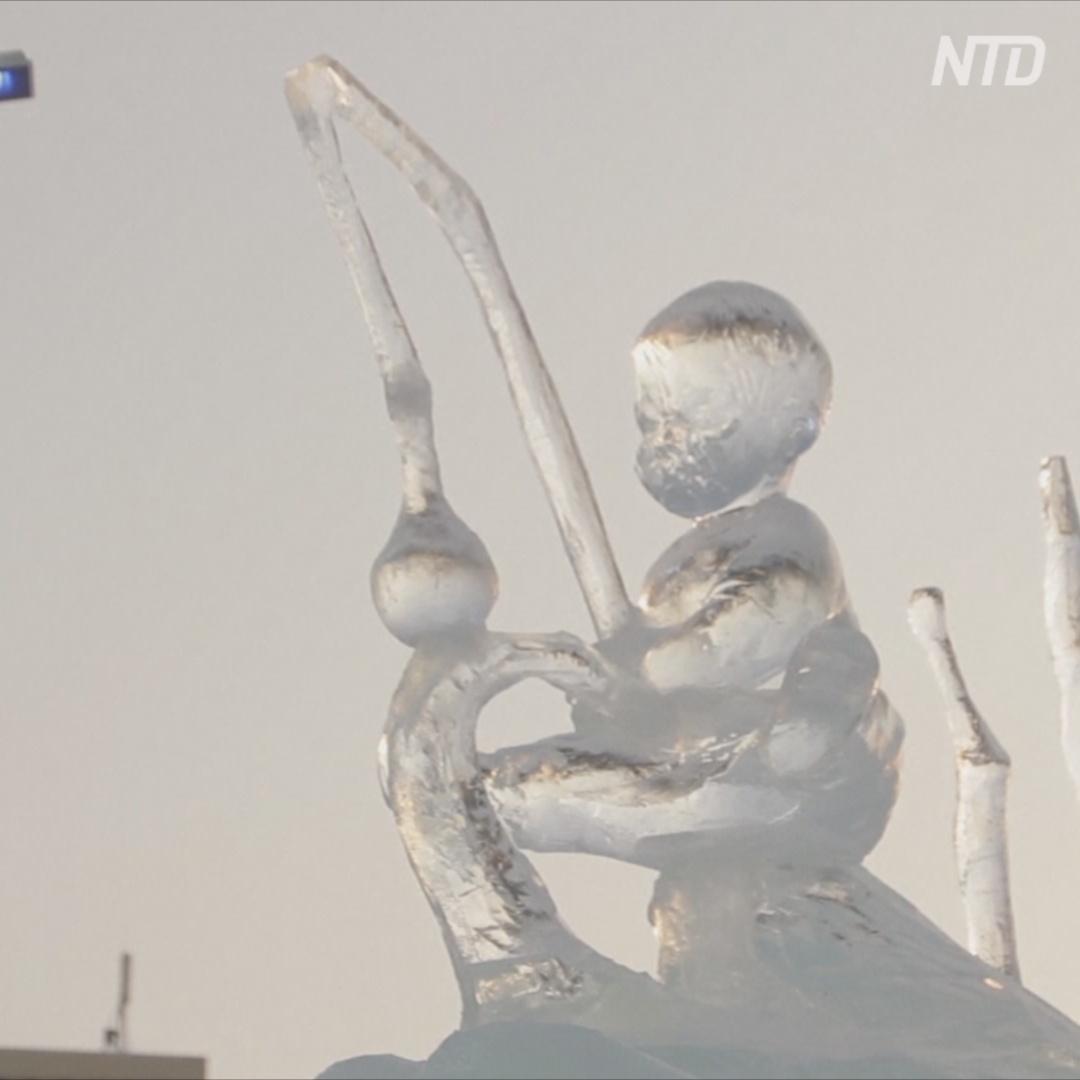 Детские мечты и женская красота: ледяные скульптуры на конкурсе в Перми